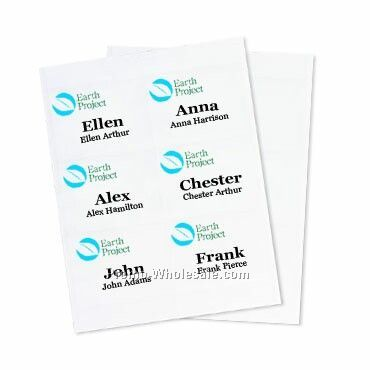 "4""x3"" Recycled Insert - 3 Color Imprint"