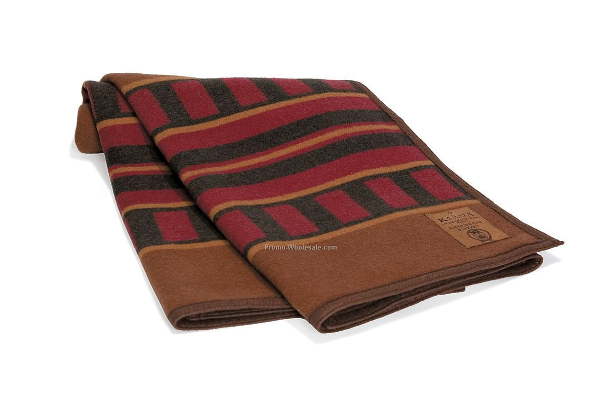 "60""x80"" Sleeping Car Wool Blanket"
