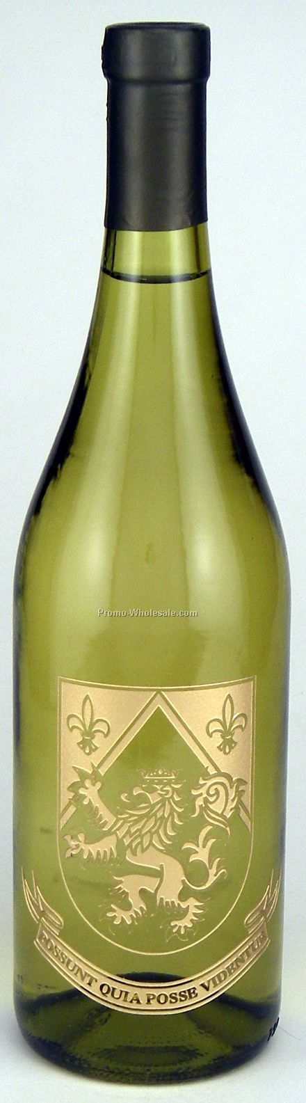 750 Ml Custom Etched Chardonnay Woodbridge, Ca, 1 Color Paint Fill