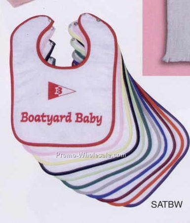 "9""x12"" Velour Terry Snap Closure Baby Bib (Screen Printed)"