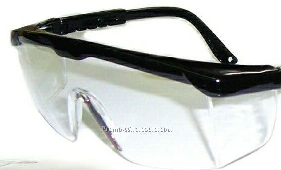 Clear Safety Glasses With Black Frame