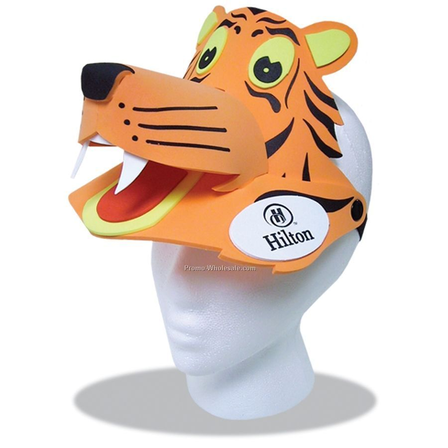Foam Animal Sun Visor - Tiger
