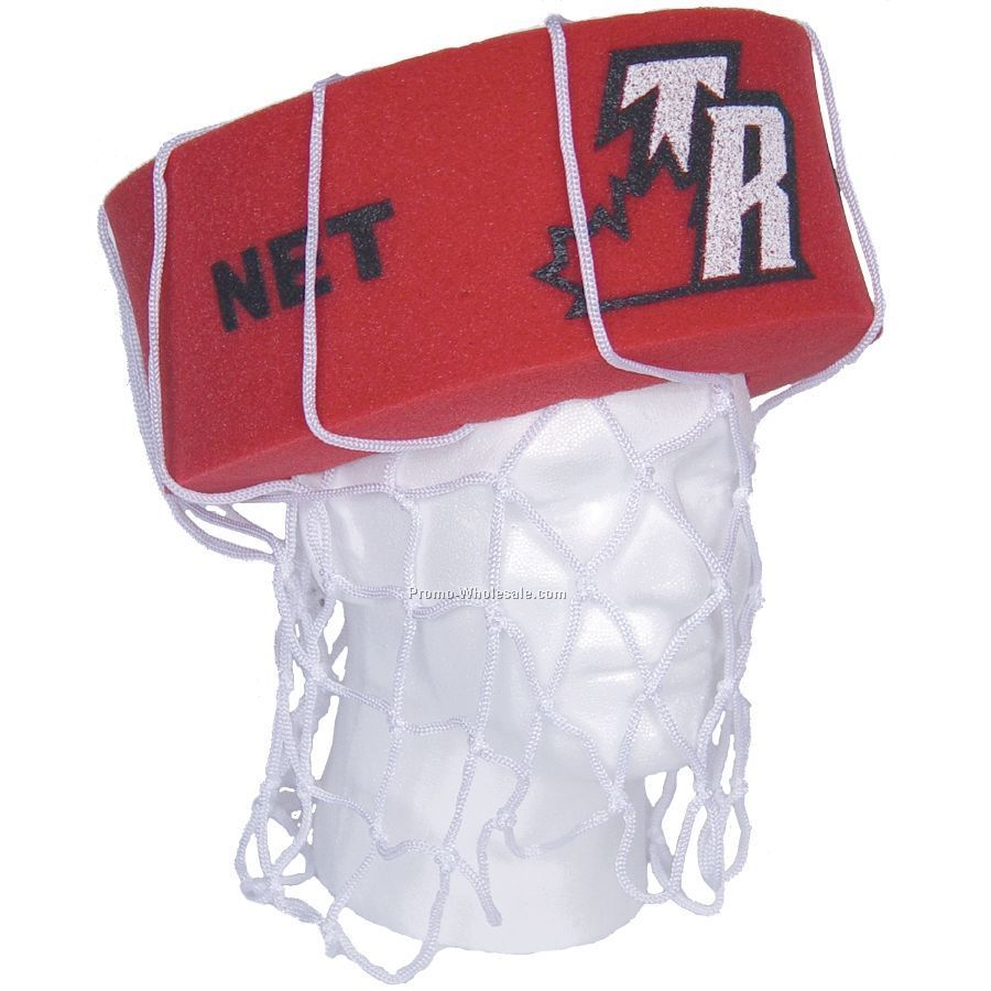 Foam Basketball Net Head Hat