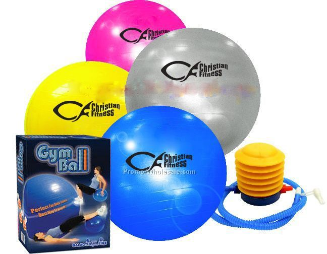 Gym Ball With Pump (Exercise Ball )