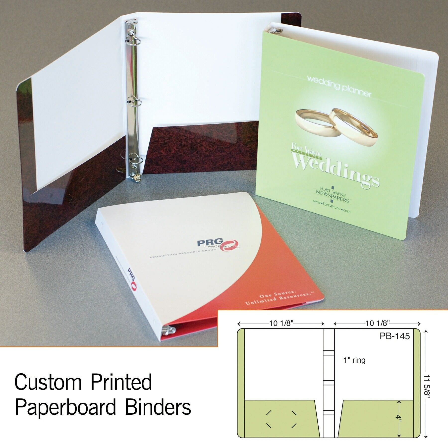 "Laminated 3 Ring Binder W/ 2 Pockets - 4 Color Process (11-5/8""x10-1/8"")"