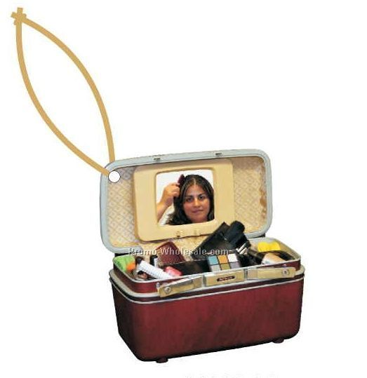 Makeup Case Executive Line Ornament W/ Mirrored Back (6 Square Inch)