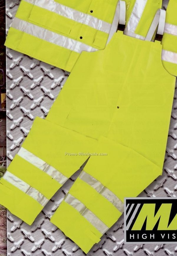 Maxflect Neon Safety Rain Overall Bib (3xl)