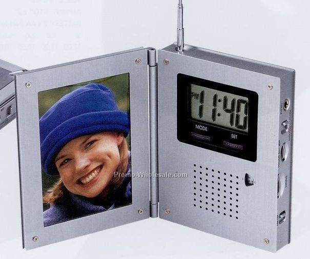 Minya AM/FM Radio Alarm Clock W/Picture Frame