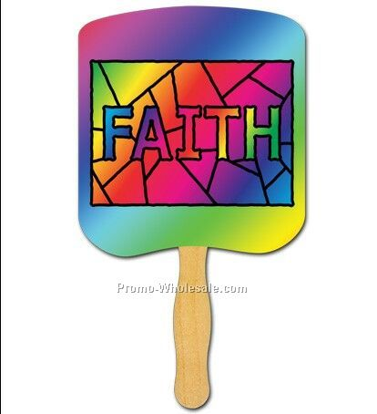 Religious Hand Fans/Faith Stained Glass