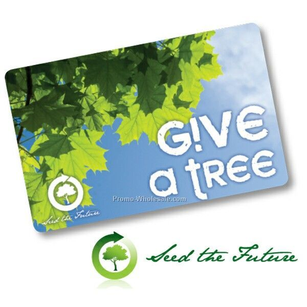 Seed-the-future Tree Card - 2 Trees
