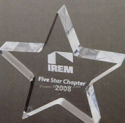 "Star Acrylic Paper Weight - 5""x5""x1"""