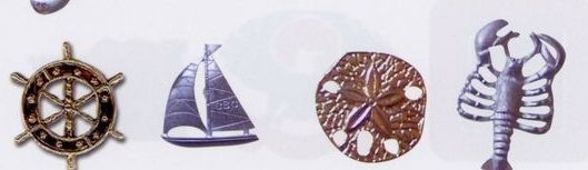 "Stock Design Lapel Pins & Charm Metal 2 Dimensional (1"" To 1-1/4"")"