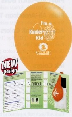 Stock Kinderprint Child Safety & Id Kit With Balloon (English)