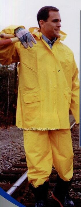 The Municipal Specialist Heavy Duty Pvc/ Nylon Rainsuit (3xl-6xl)
