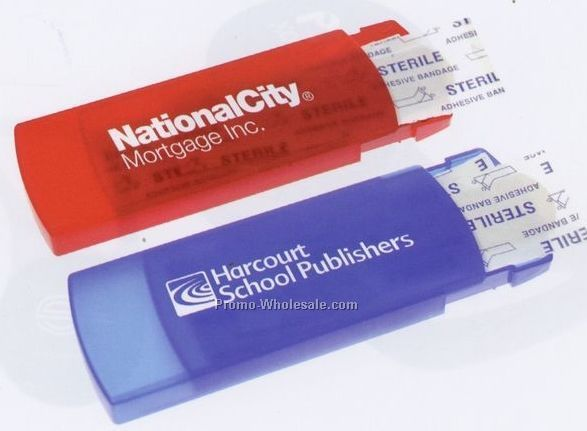 Travel Bandages W/ Translucent Plastic Case - Factory Direct (8-10 Weeks)