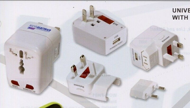 Universal Travel Adapter With USB Charge