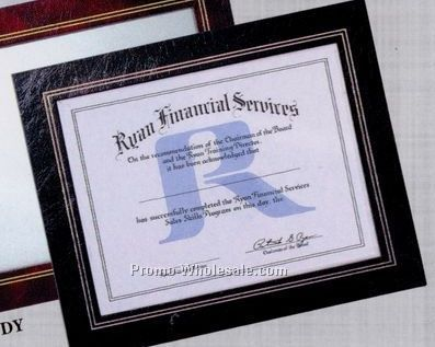 "13-1/4""x10-3/4"" Leatherette Certificate Frame"