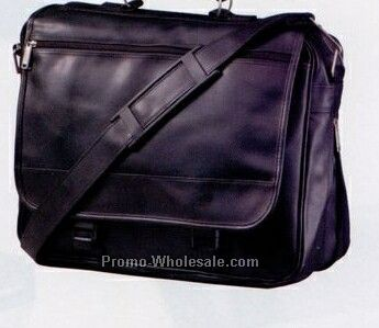 "16""x13-1/2""x6-1/4"" Toppers Simulated Leather Expandable Brief Bag"