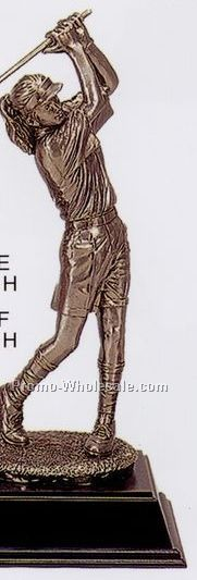 "18"" Female Golfer Figurine"