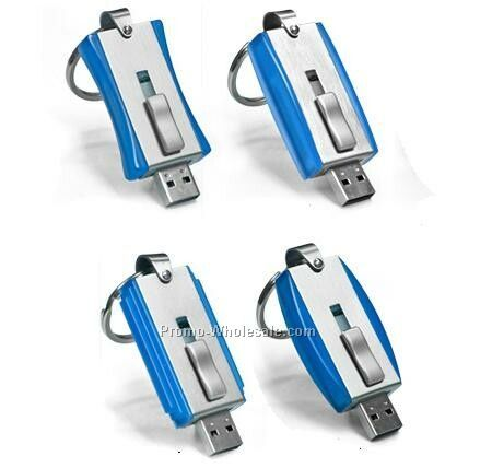 2 Gb Blue Slider Flash Drive