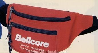 "3 Pocket Polyester Fanny Pack 8""x4-1/2""x3"""