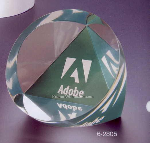 "3""x1-5/8"" Acrylic Faceted Cylinder Award"