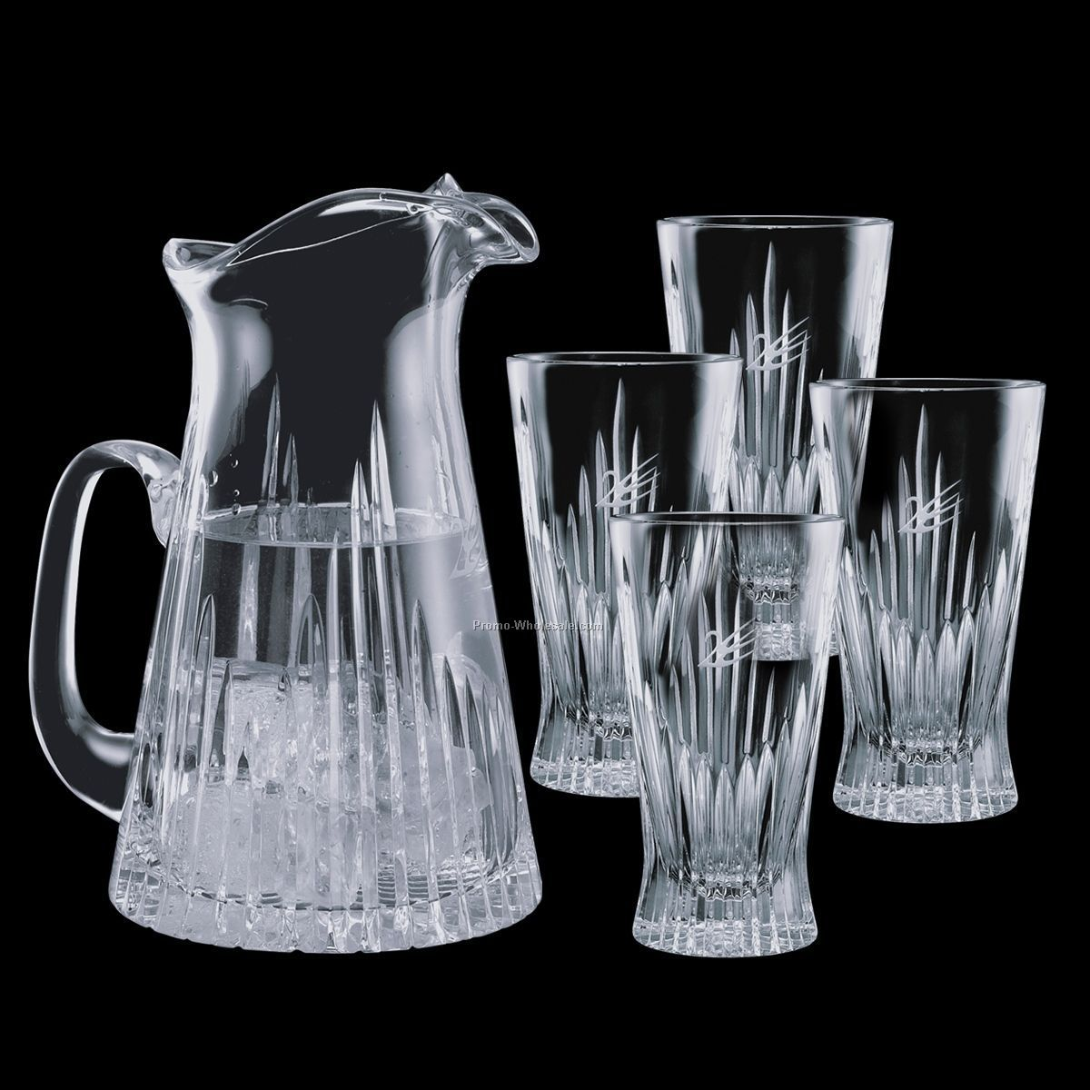 30 Oz. Cromwell Pitcher & 4 14 Oz. Coolers