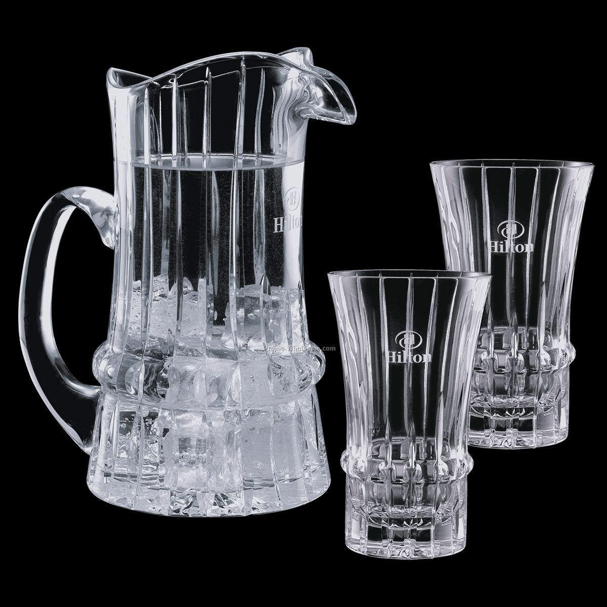 30 Oz. Crystal Steinbach Pitcher And 2 Coolers