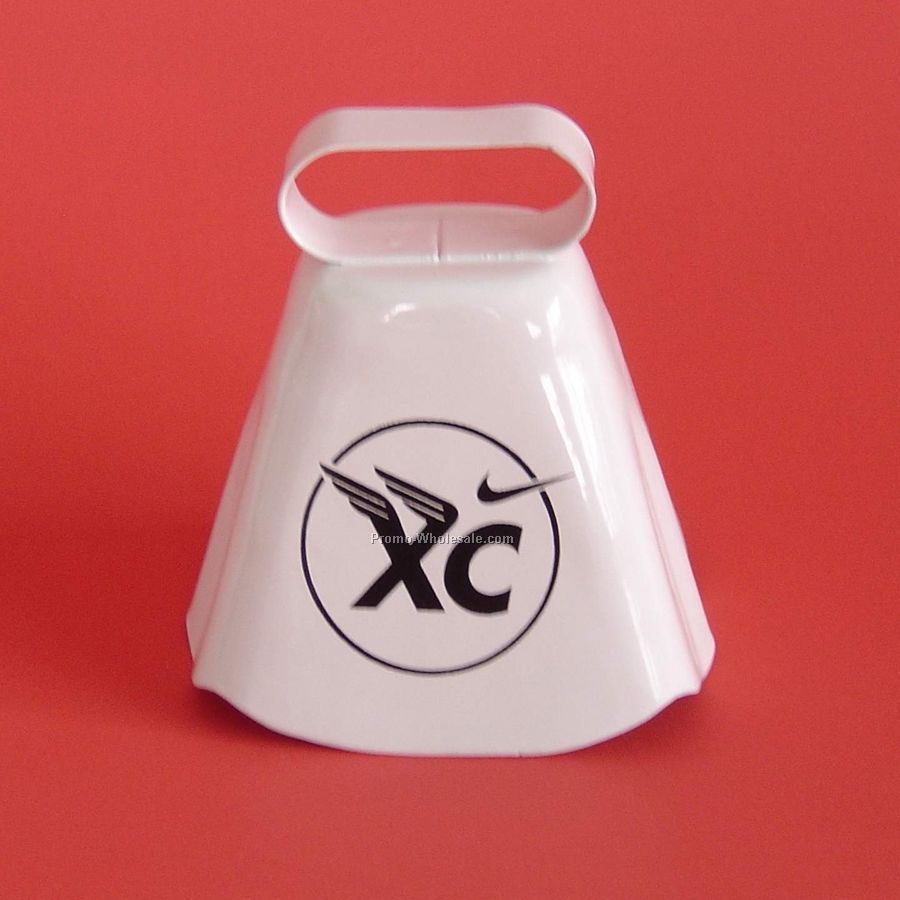 Alpine Cowbell - 1 Side 2 Color Imprint (White)