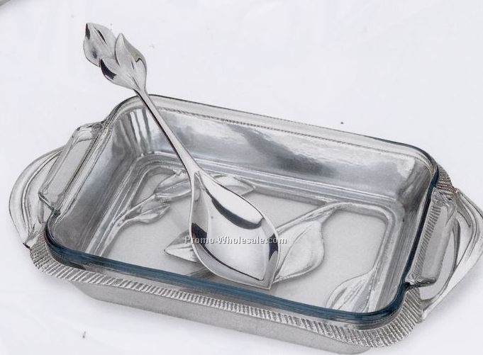 Arbor Collection 2 Quart Open Baker W/ Serving Spoon