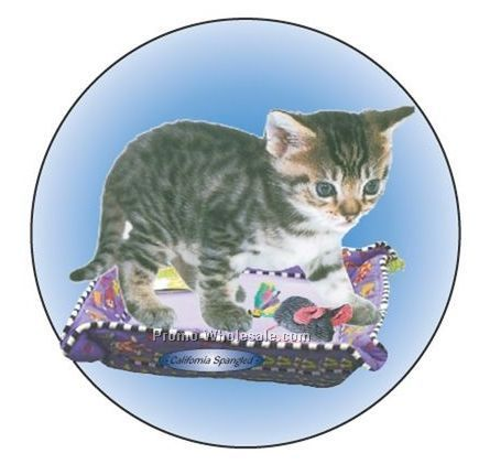 "California Spangled Cat Badge W/ Metal Pin (2-1/2"")"