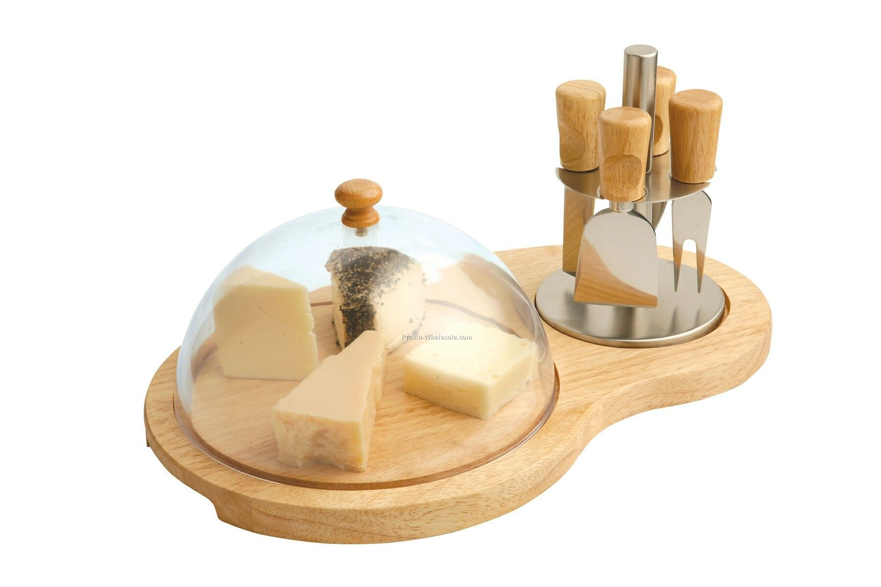 Cheese Board With Cover & 4 Knives