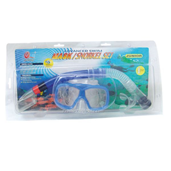 Clear/Blue Trim High Quality Swimming Set