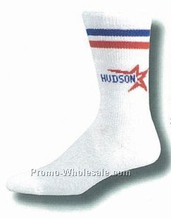 Custom Knit-in Crew Tube Socks (10-13 Large)