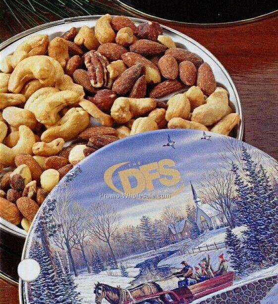 Glad Tidings Tin W/ Cashews And Spicy Nut Mix