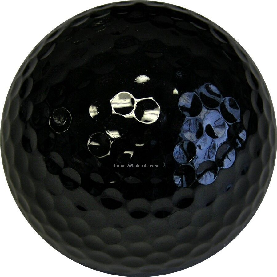 Golf Balls - Black - Custom Printed - 1 Color - Bulk Bagged