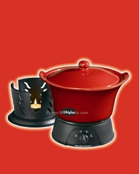 Hamilton Beach 1.5 Qt Party Crock Cookset - Red Stoneware