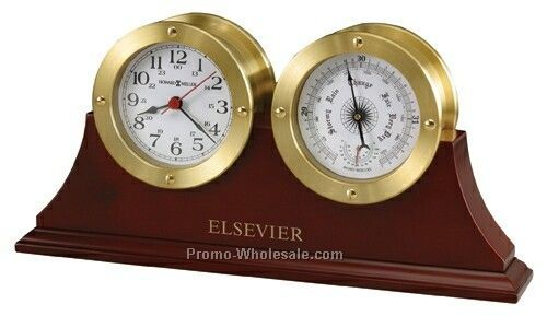 Howard Miller South Harbor Clock With Barometer & Thermometer (Blank)