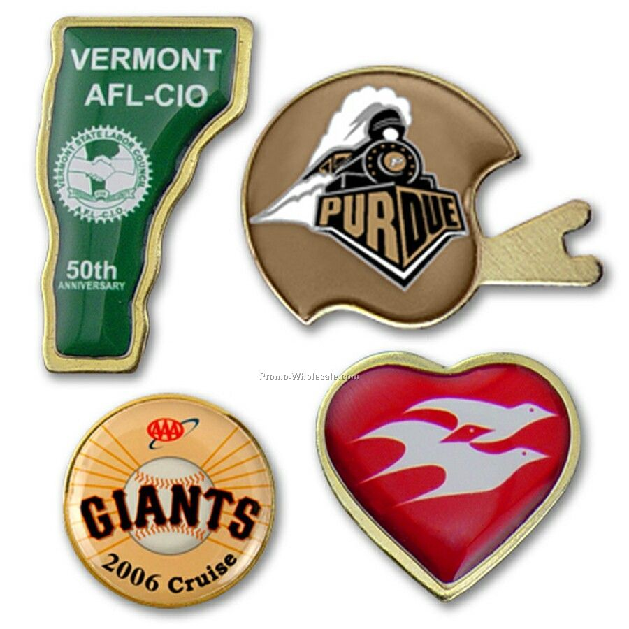 Lapel Pin (Stock Shapes) - 8 Day / 4-color Process Imprint / Made In Usa