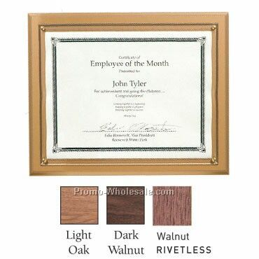 Light Oak Certificate Plaque