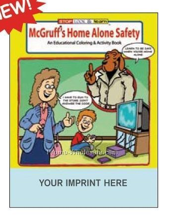 Mcgruff's Guide To Home Alone Safety Coloring Book Fun Pack