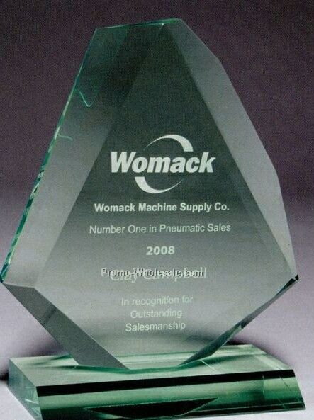 Multi-faceted Acrylic Clear Beveled Diamond Award (Laser Engraved)