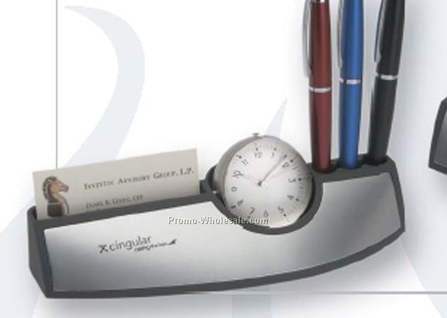 Perugia Workstation With Clock, Frame & Pen Holder
