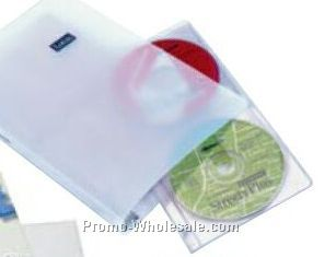 "Polyethylene Narrow Width Ring Binder For CD/ DVD (1"" Capacity .035 Gauge)"