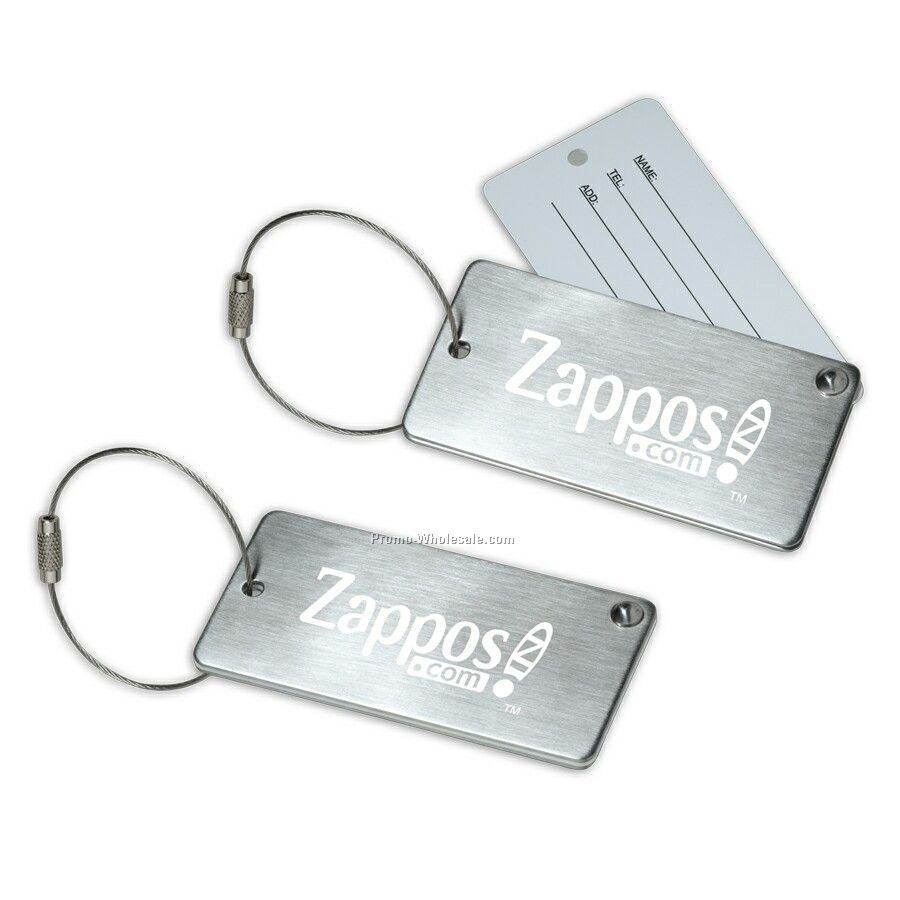 Proper Stainless Steel Luggage Tag With Hide-in Personal Information.