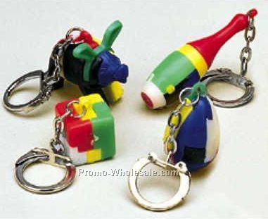 Puzzle Key Chain Ring