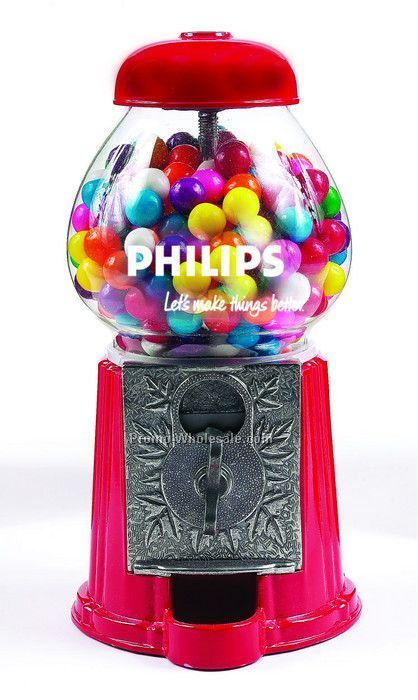 "Red 15"" Gumball / Candy Dispenser Machine"