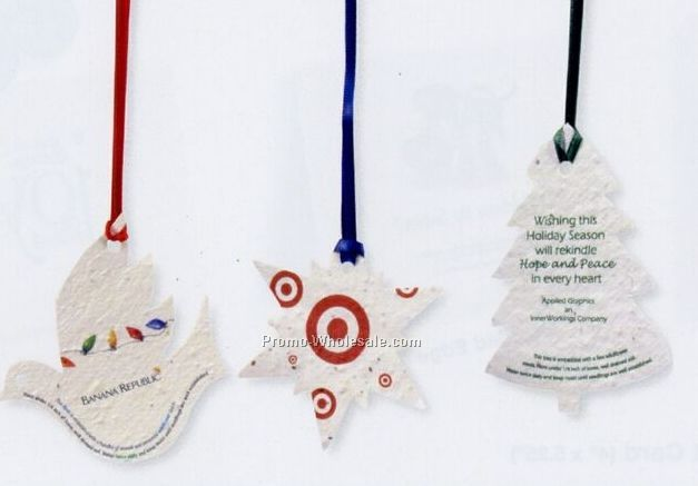 Seed Paper Ornaments, Favors And Shapes
