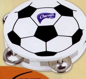 Soccer Sports Tambourine (Blank)