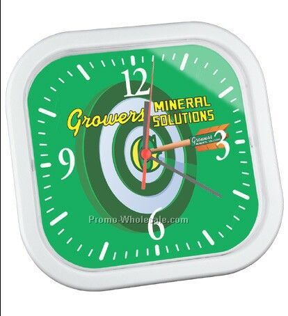 "Square Wall Clock - 9 3/4"" X 9 3/4"""